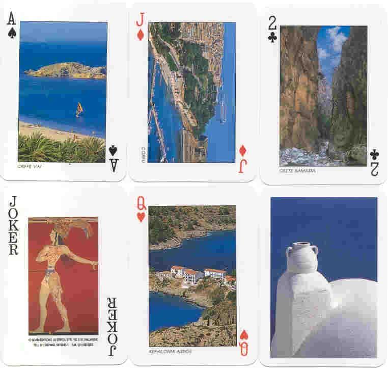 Greek Souvenir playing cards