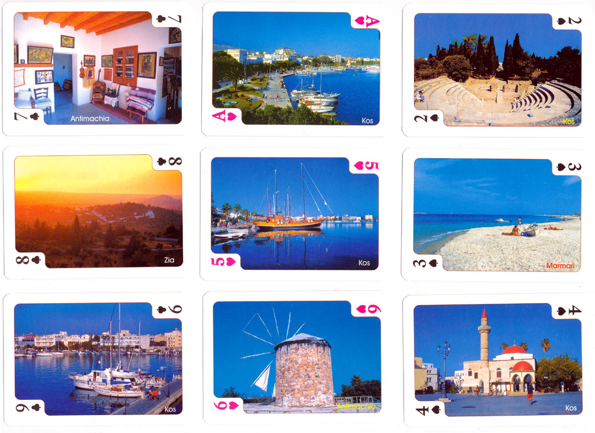 Souvenir playing cards from the Greek island of Kos, published by Eurocard