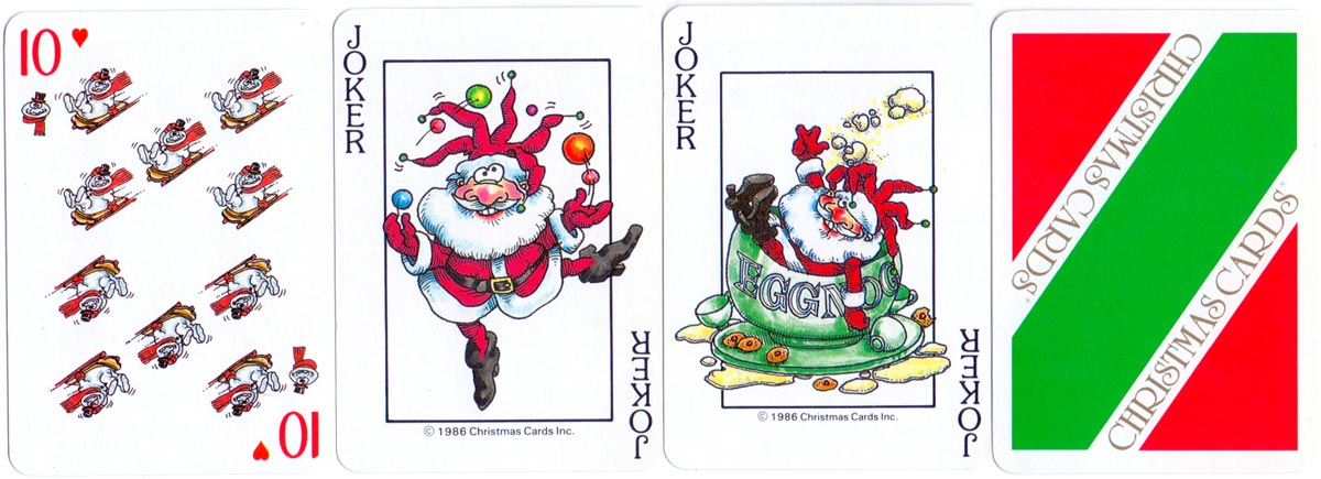 Christmas Playing Cards published by Novelty Playing Cards, Syracuse, New York, 1986