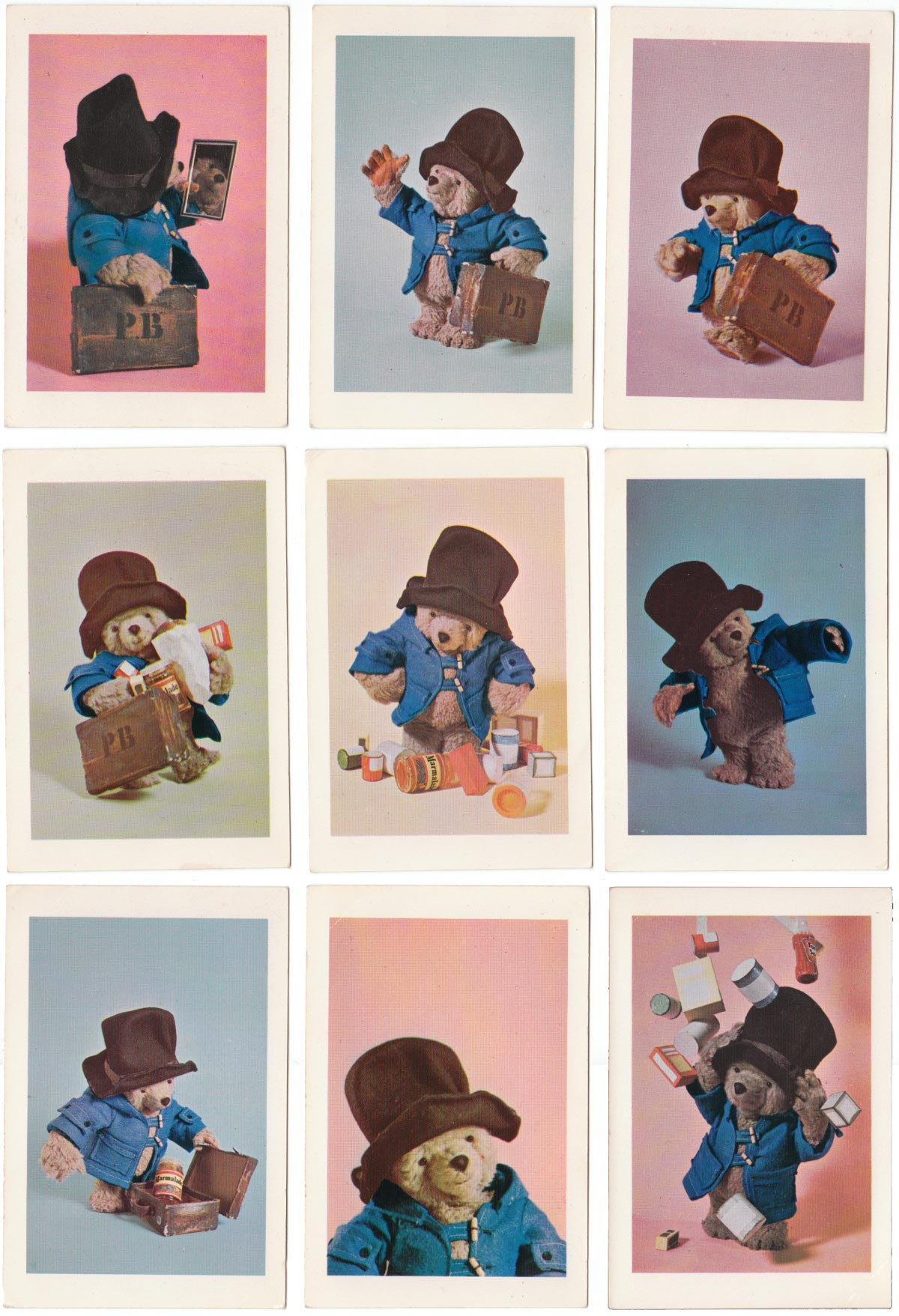 Paddington card game published in UK by Whitman (USA)