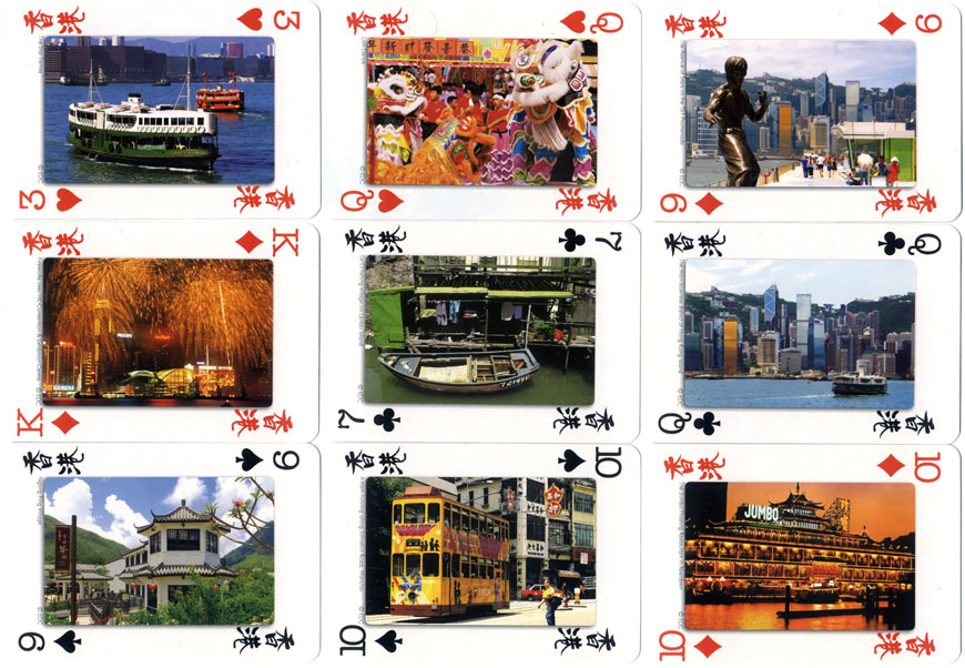Hong Kong Souvenir playing cards, photography by Edmond Chan