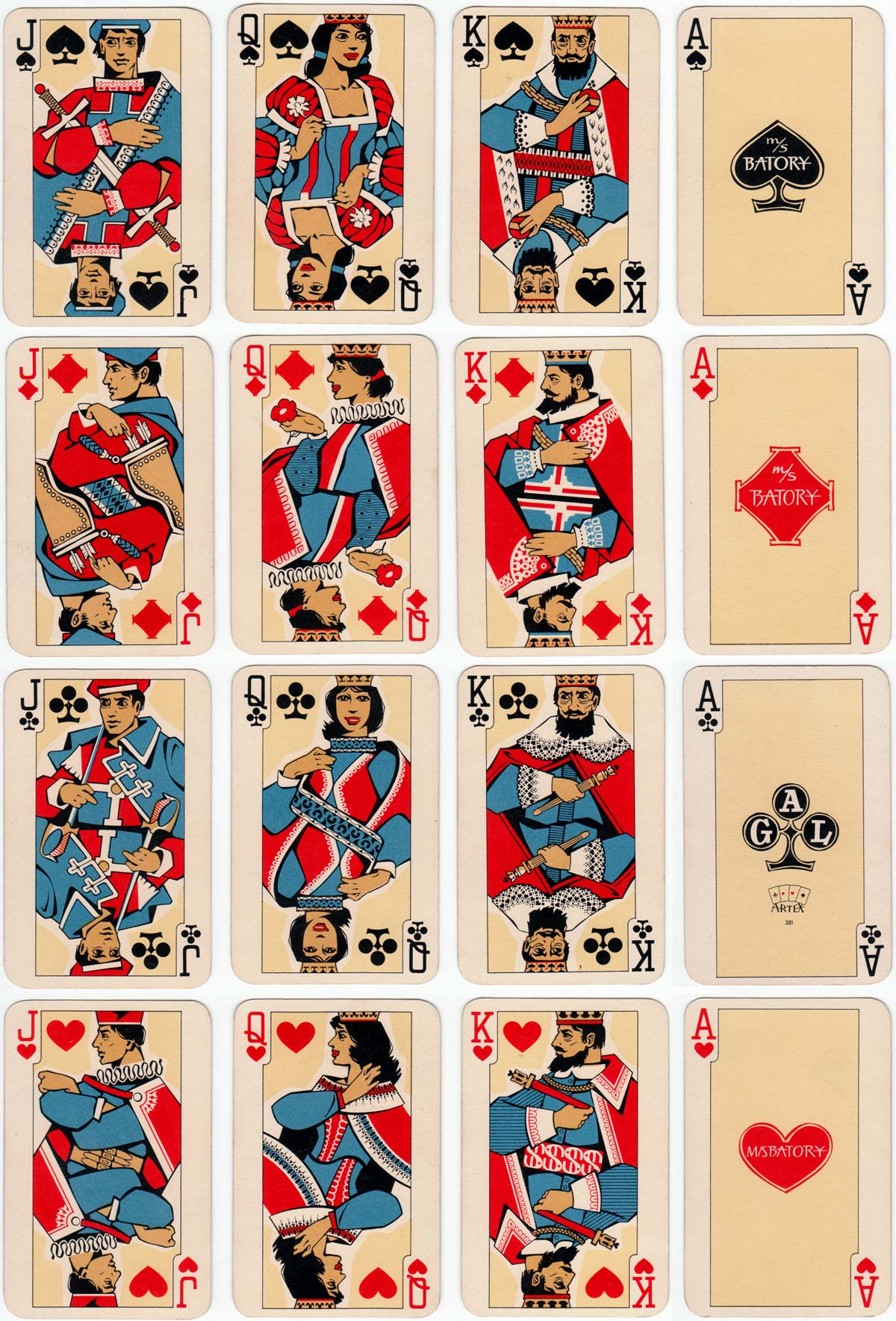 playing cards for Gdynia-America Line, Poland, c.1958
