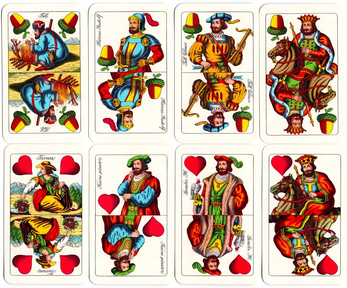Magyar Kártya Luxus No.123 Hungarian playing cards, made in Hungary, c.1970