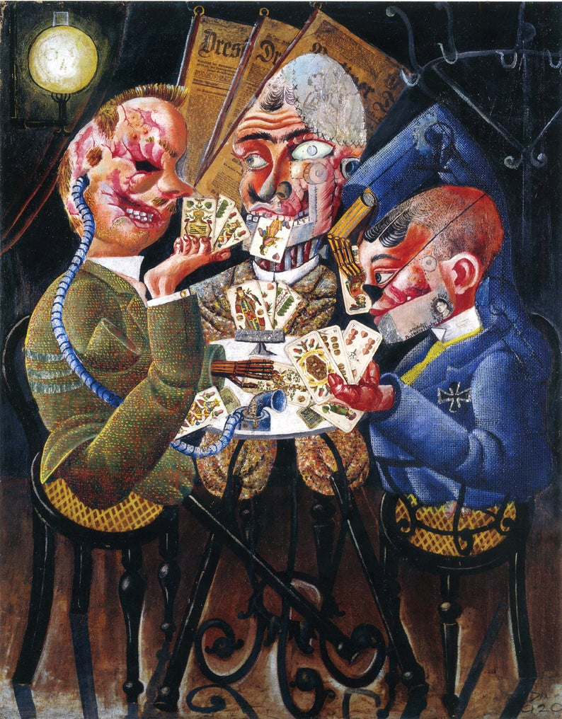 Otto Dix: The Skat Players (Die Skatspieler), 1920