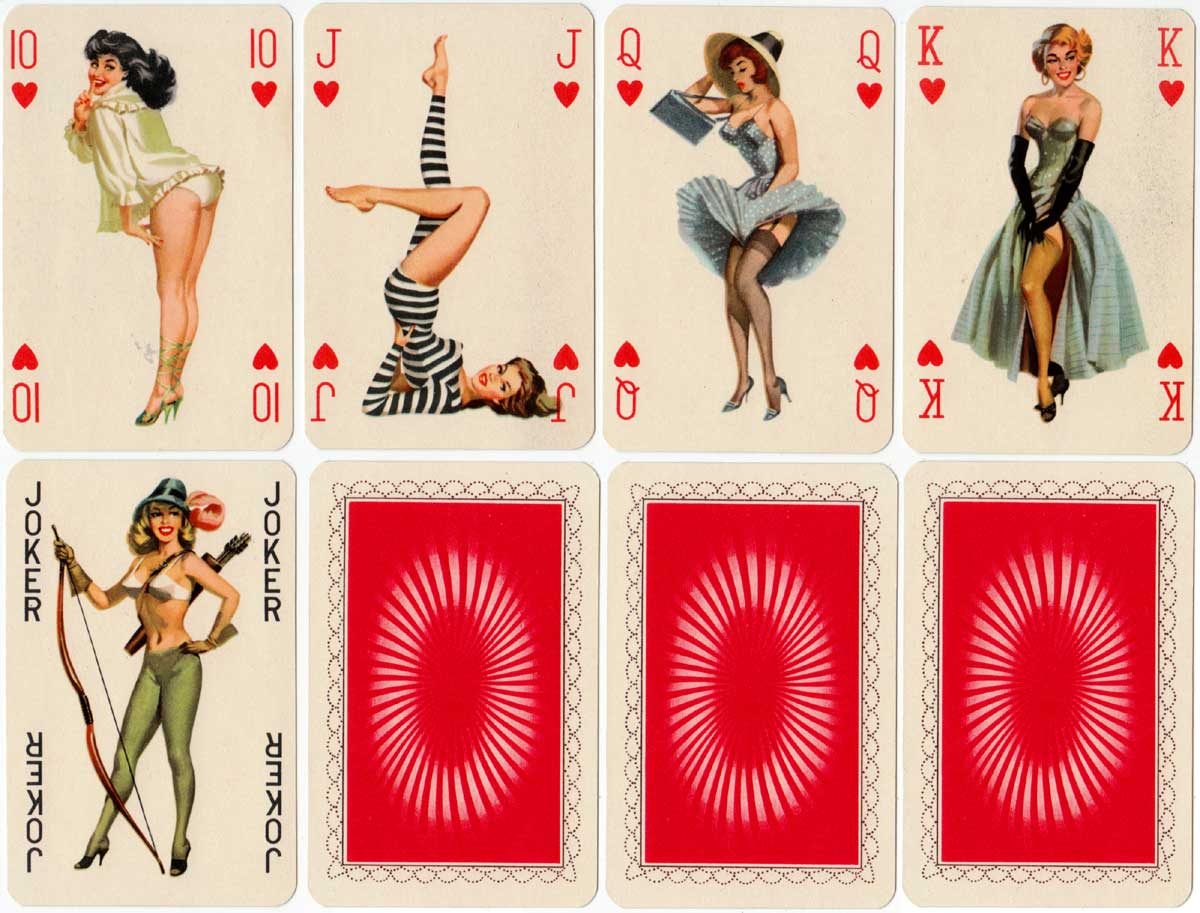 Pin-up Rummy Playing Cards, made in Hungary, c.1970
