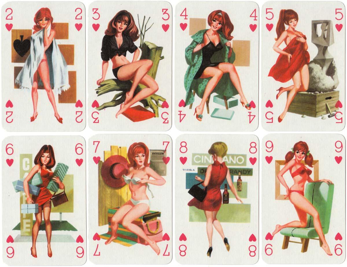 Römihártya pin-up deck from Hungary, c.1975-85