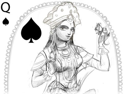 artwork from Bharata Playing Cards, 2018