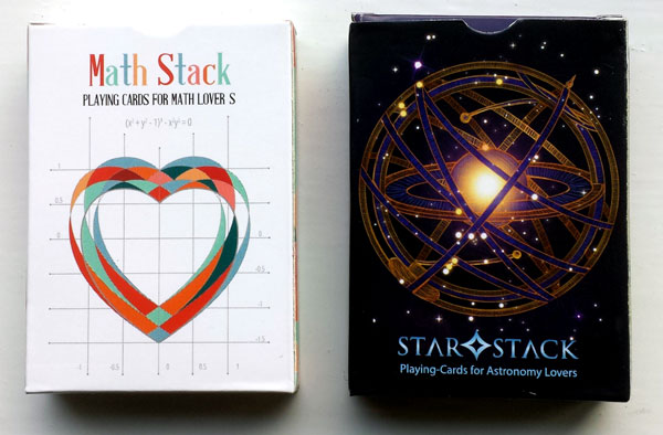 """Math Stack"" and ""Star Stack"" educational playing cards published by EduStack, 2015"