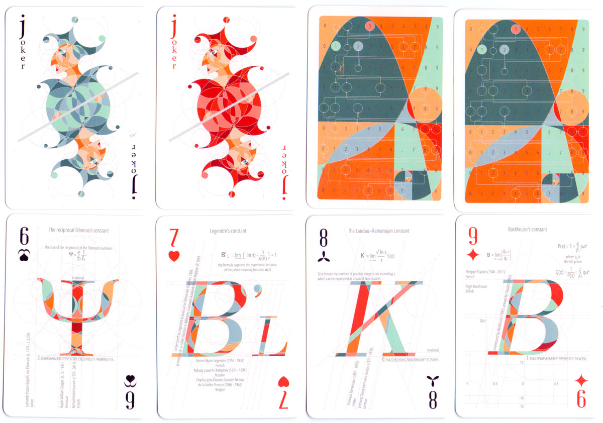 """Math Stack"" playing cards designed by Diana Stanciulescu, published by EduStack, 2015"