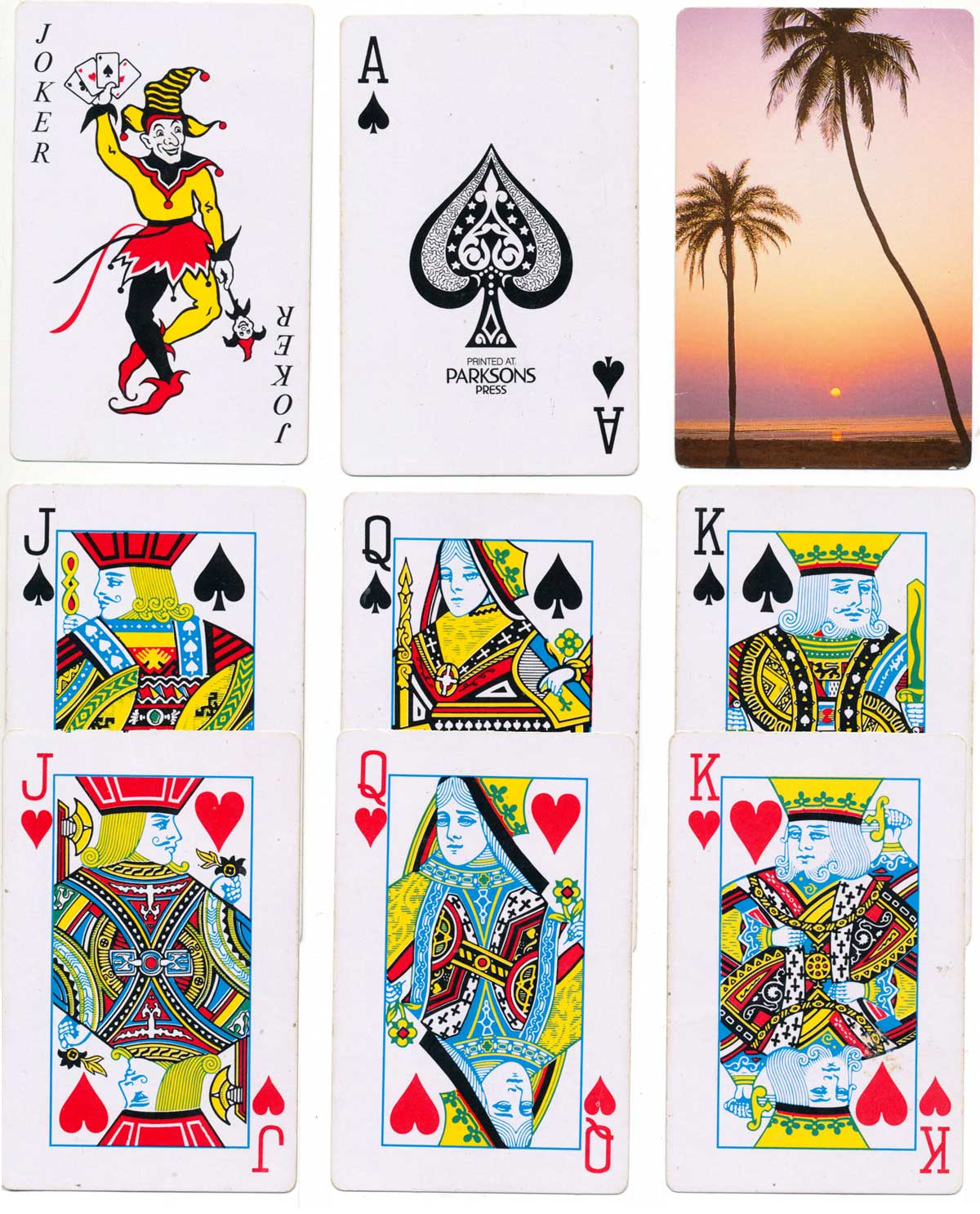 deck for Sunidhi Games and Sports, printed at the Parkinsons Press, 2001