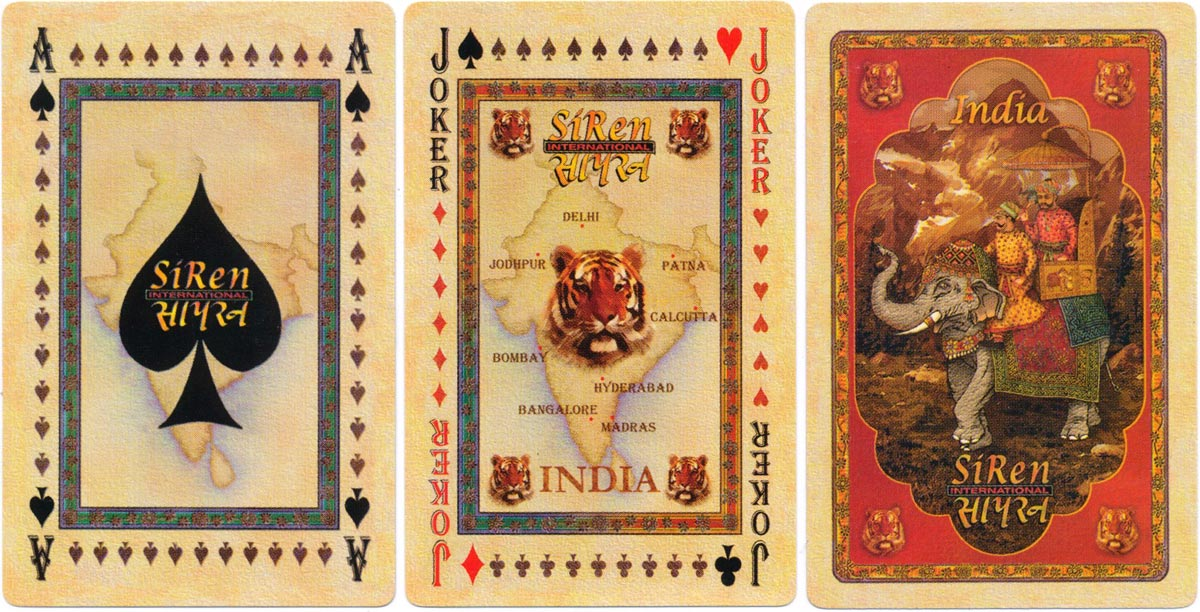 SiRen International playing cards based on traditional style of Indian miniature painting, 1998