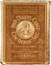 box from Irish Heroic Playing Cards, 1919