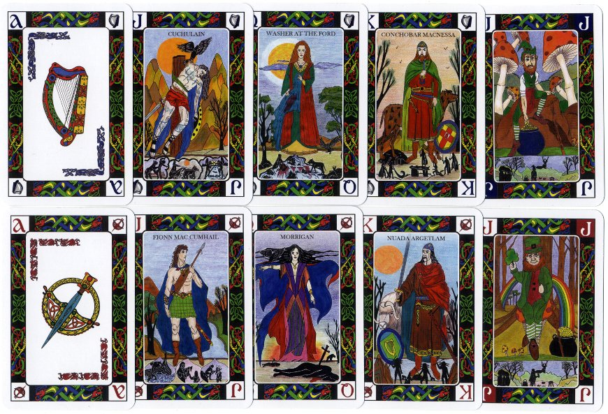 Celtic Journey playing cards - where art and culture meet - designed by Carmen G. Carballeira, 2011