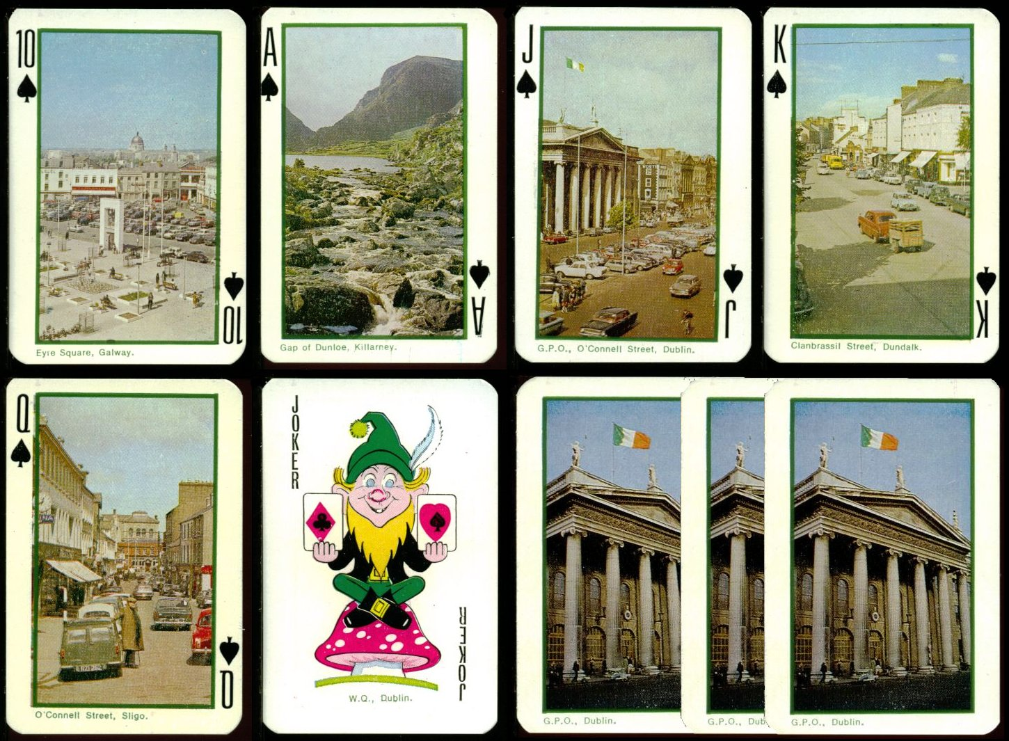 Irish souvenir playing cards