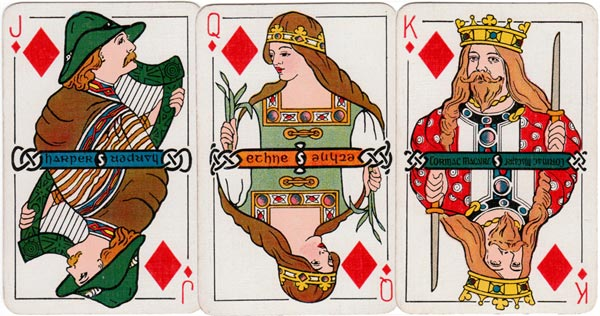 Irish Historic Playing Cards, 1920