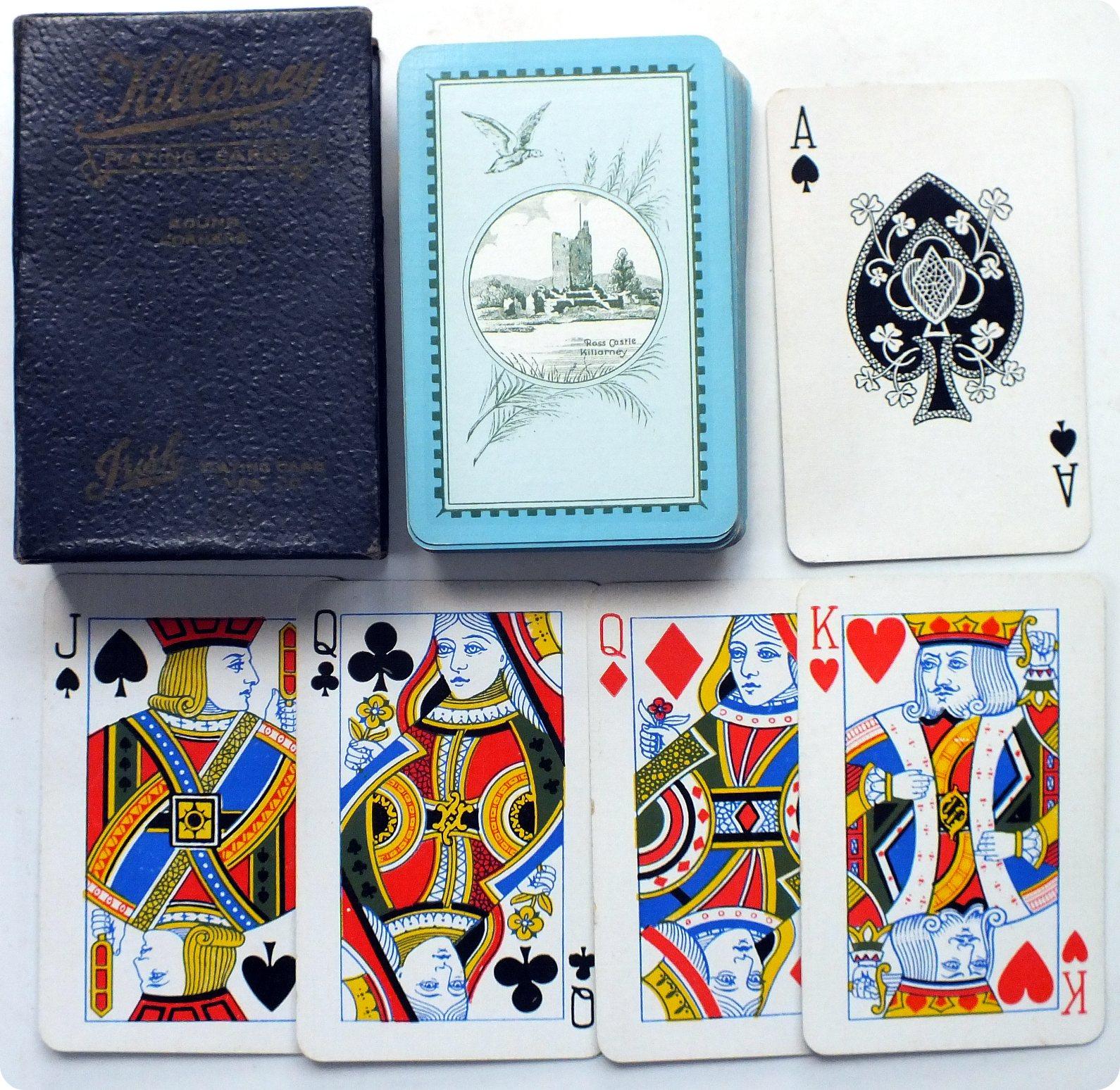 Killarney Series playing cards by the Irish Playing Card Mfg Co., c.1920