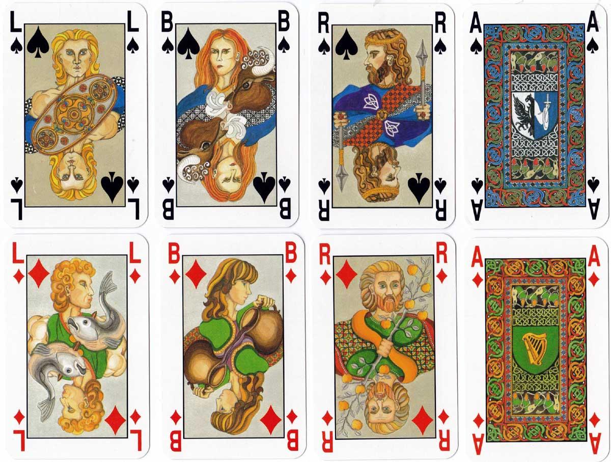 Irish Legendary playing cards designed by Rachel Arbuckle, 1990