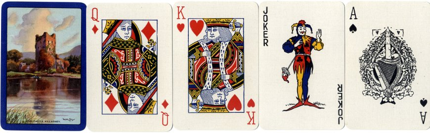 Ross Castle, Killarney, playing cards by Ormond Printing Co., c.1935-50