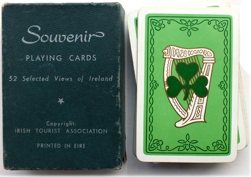 Selected views of Ireland Souvenir playing cards published by the Irish Tourist Association, early 1950s