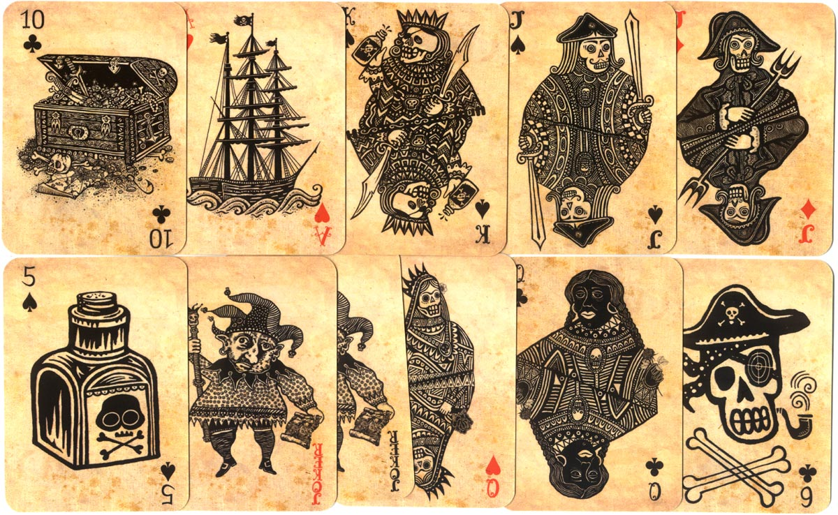 Pirate Playing Cards: concept and design by Vitaly Fishilevich, 2011