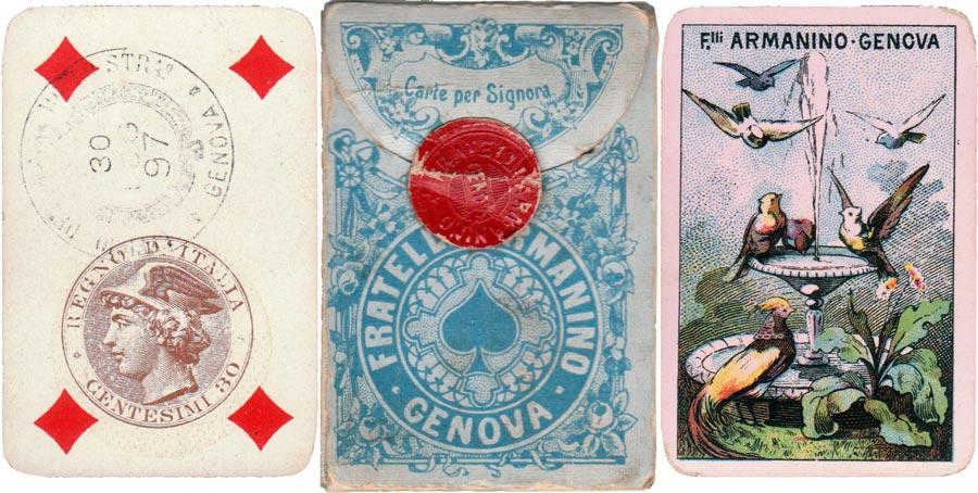 """""""Carte per Signora"""" produced by Fratelli Armanino, Genova, c.1897"""