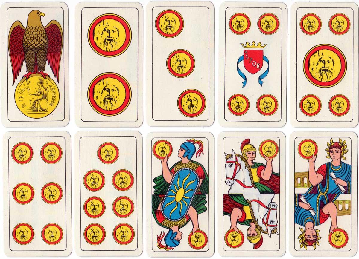 Carte Romane designed by Giorgio Pessione for Capitol Carta Roma, 1973