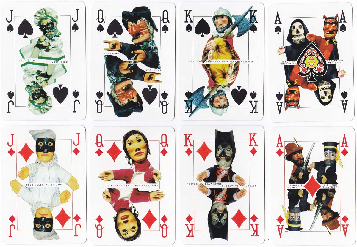 Baracca & Burattini puppetry deck printed by Dal Negro, 1998
