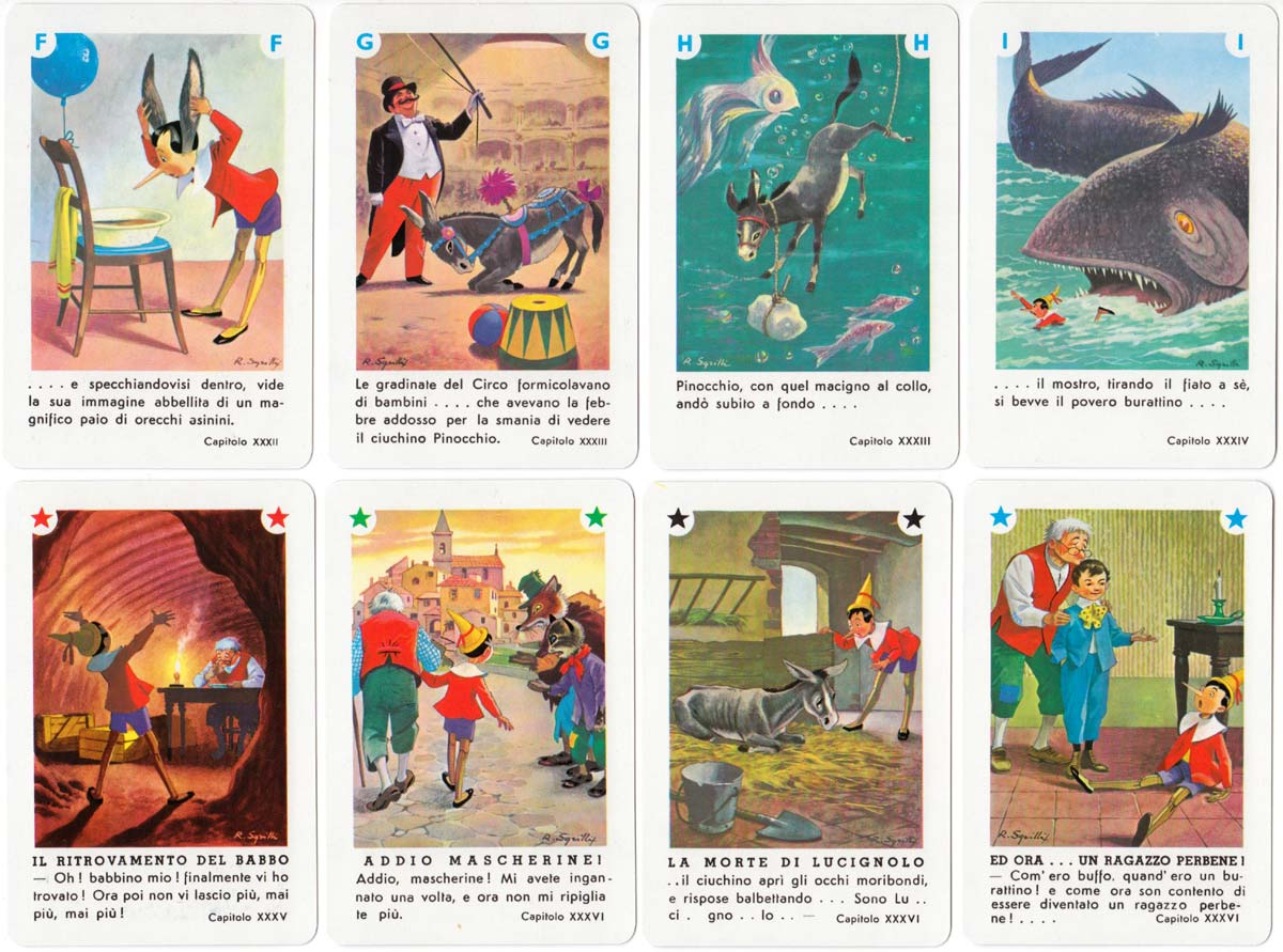 Pinocchio card game produced by Dal Negro, c.1980