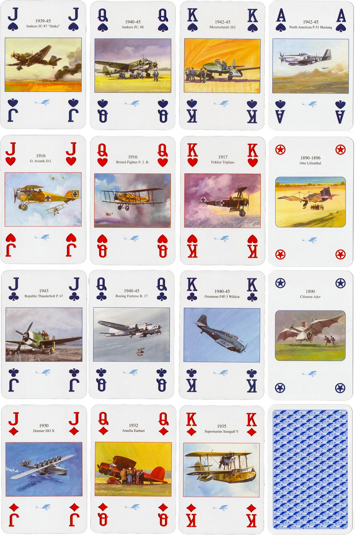 """History of Aviation"" playing cards published by Lo Scarabeo (2003)"