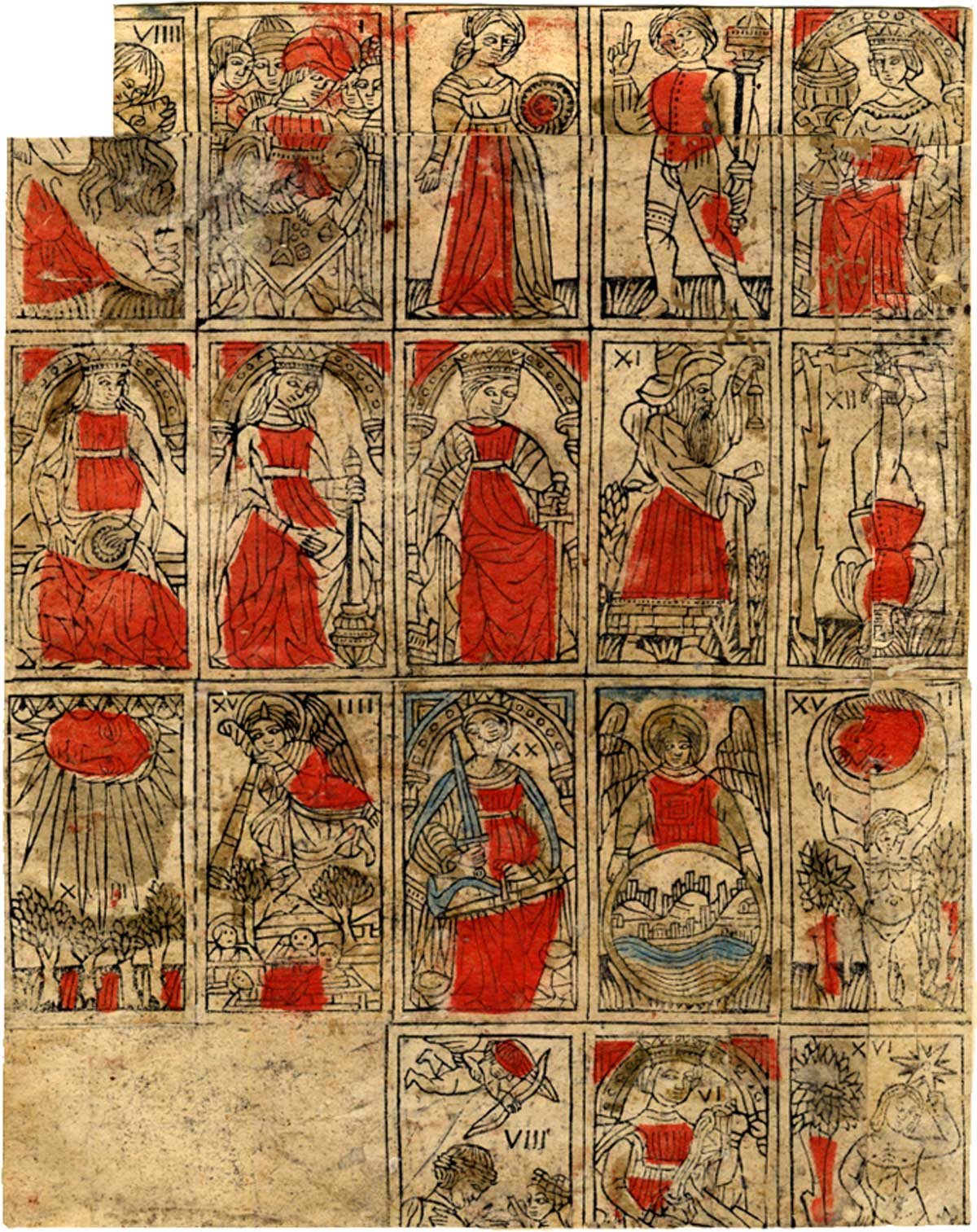 Early form of north Italian tarot cards