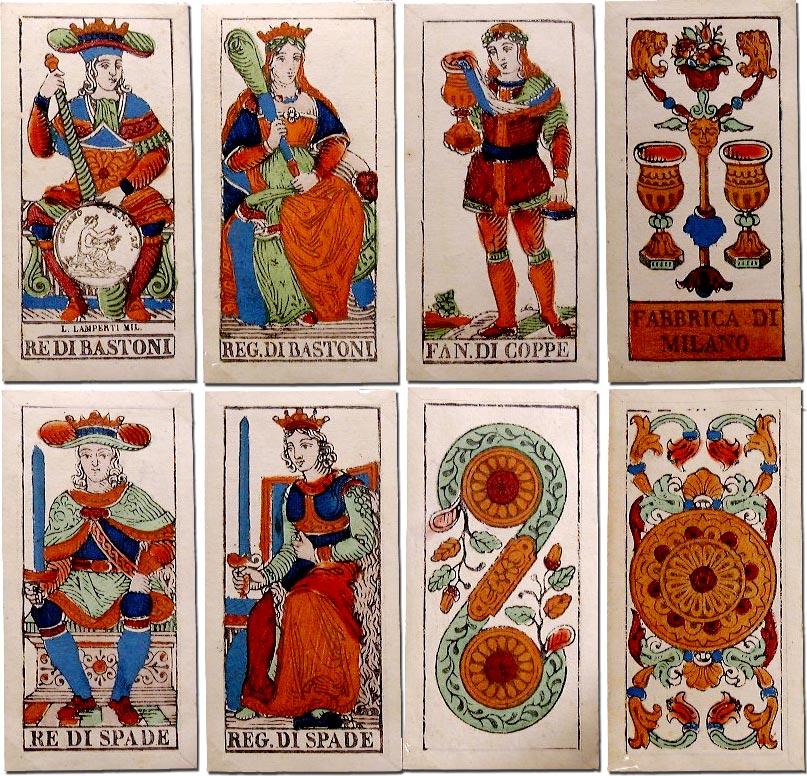 Italian tarot cards, Lamperti (Milan) c.1850