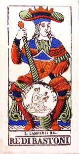 Italian tarot cards, Lamperti (Milan) c.1820