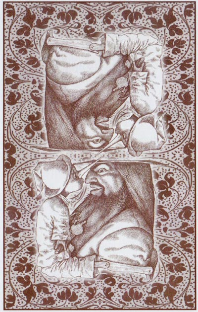 Pinocchio fairy tale playing cards illustrated by Iassen Ghiuselev for Lo Scarabeo, 2003