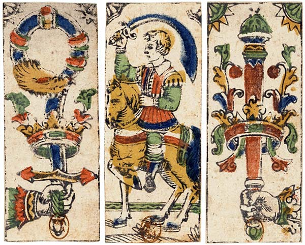 Tarocchino cards, early 17th Century, French National Library