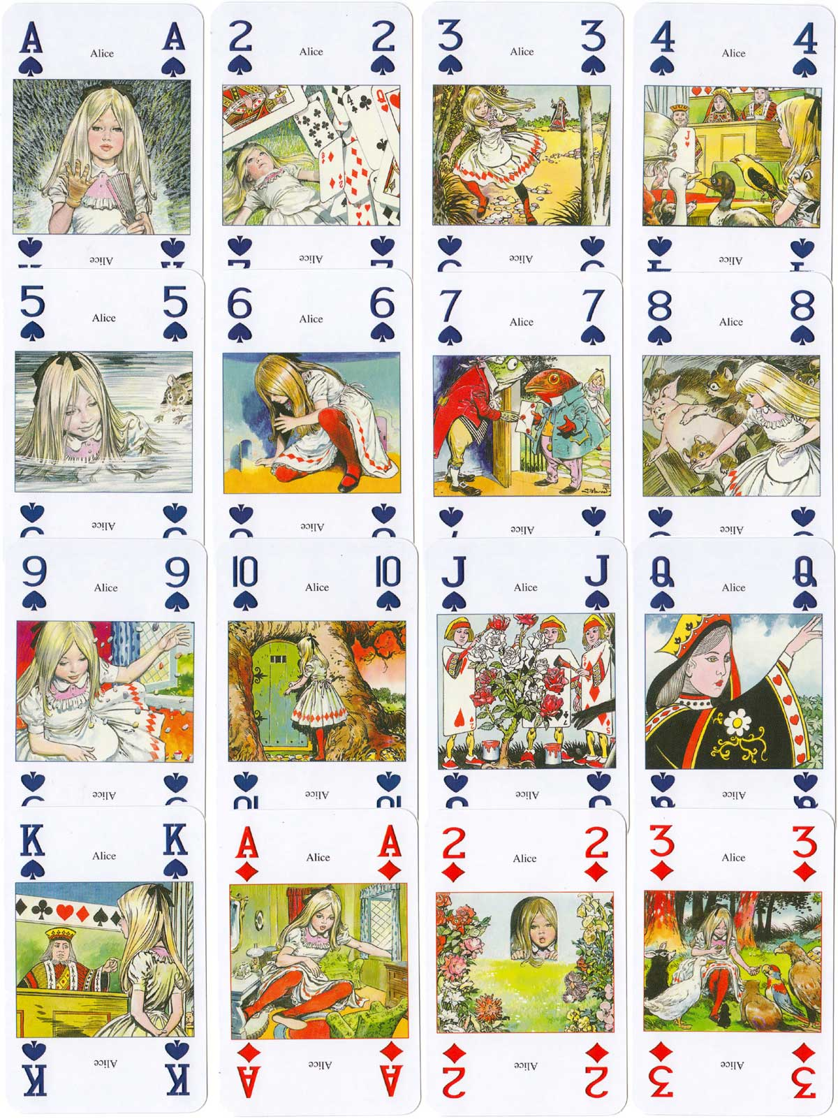 Alice with artwork by Jesus Blasco, published by Lo Scarabeo, 2003