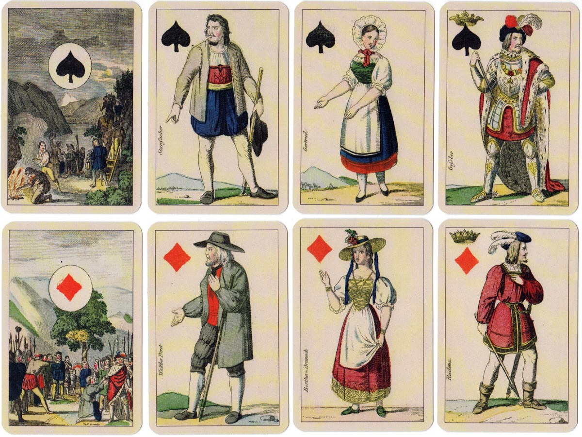 Facsimile of Swiss William Tell deck from c.1870