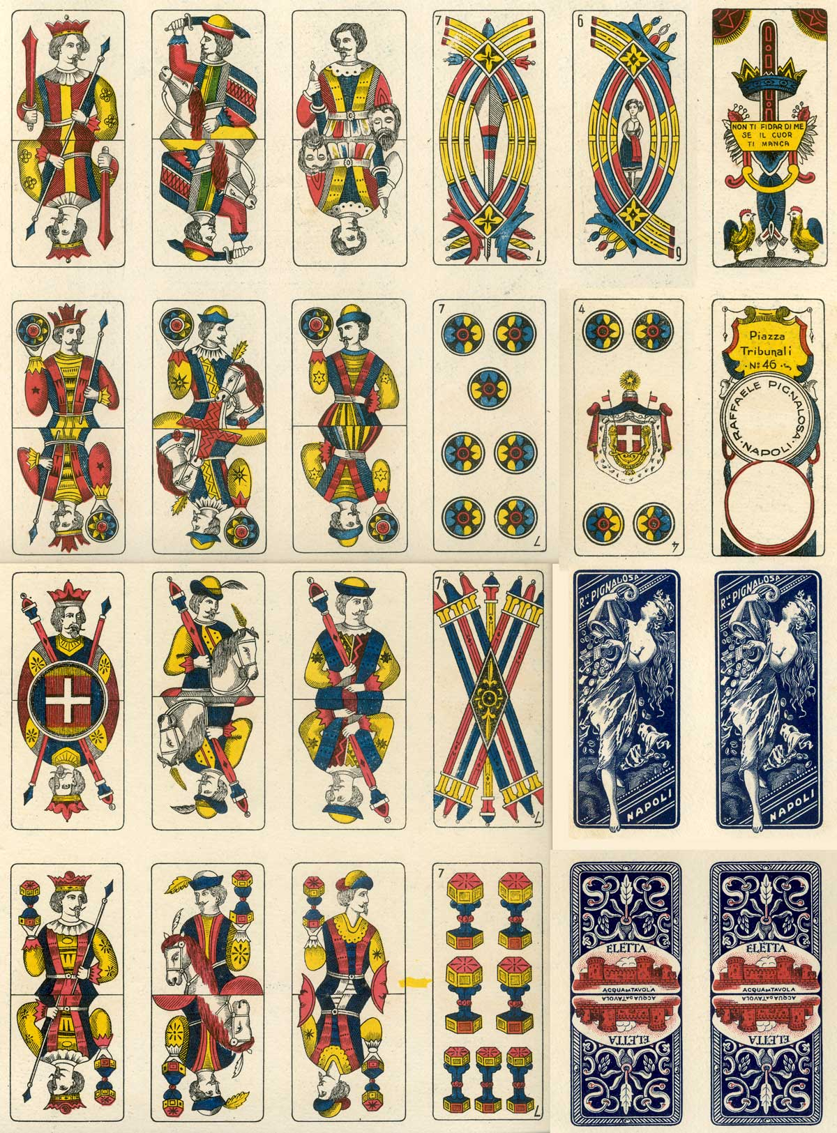 Trevigiane playing cards printed by Raffaele Pignalosa, c.1925-28
