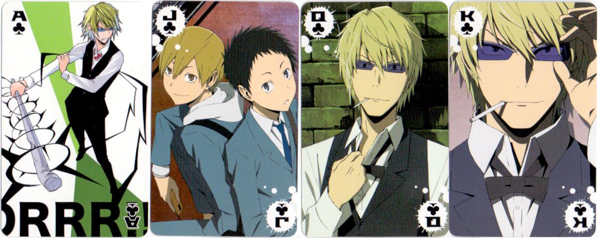 Durara!! anime playing cards, 2010