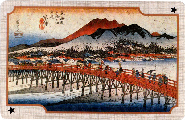 Hiroshige Ukiyo-e playing cards
