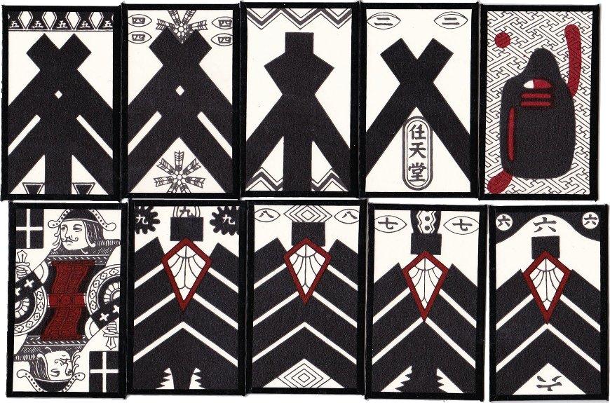 Kabufuda playing cards manufactured by Nintendo, Japan