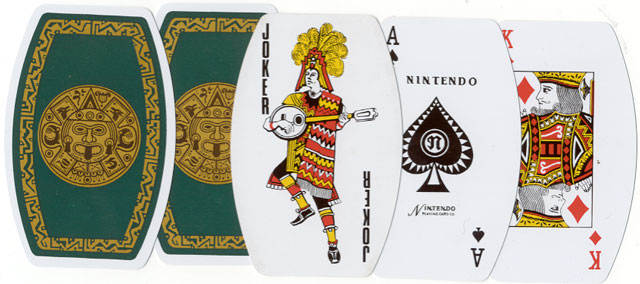 Mexican-Aztec themed playing cards made in Japan by Nintendo