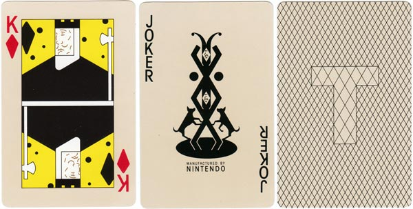 """Tactics Supranational"" men's grooming playing cards manufactured by Nintendo, c.1979"