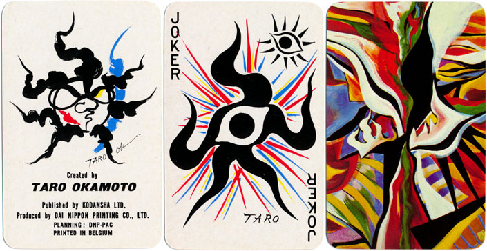 Taro Okamoto playing cards, 1977