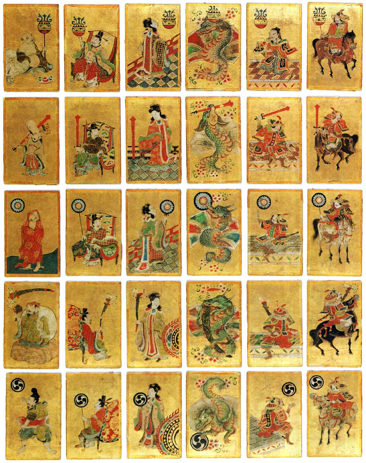 18th Century Hand-painted Unsun Karuta