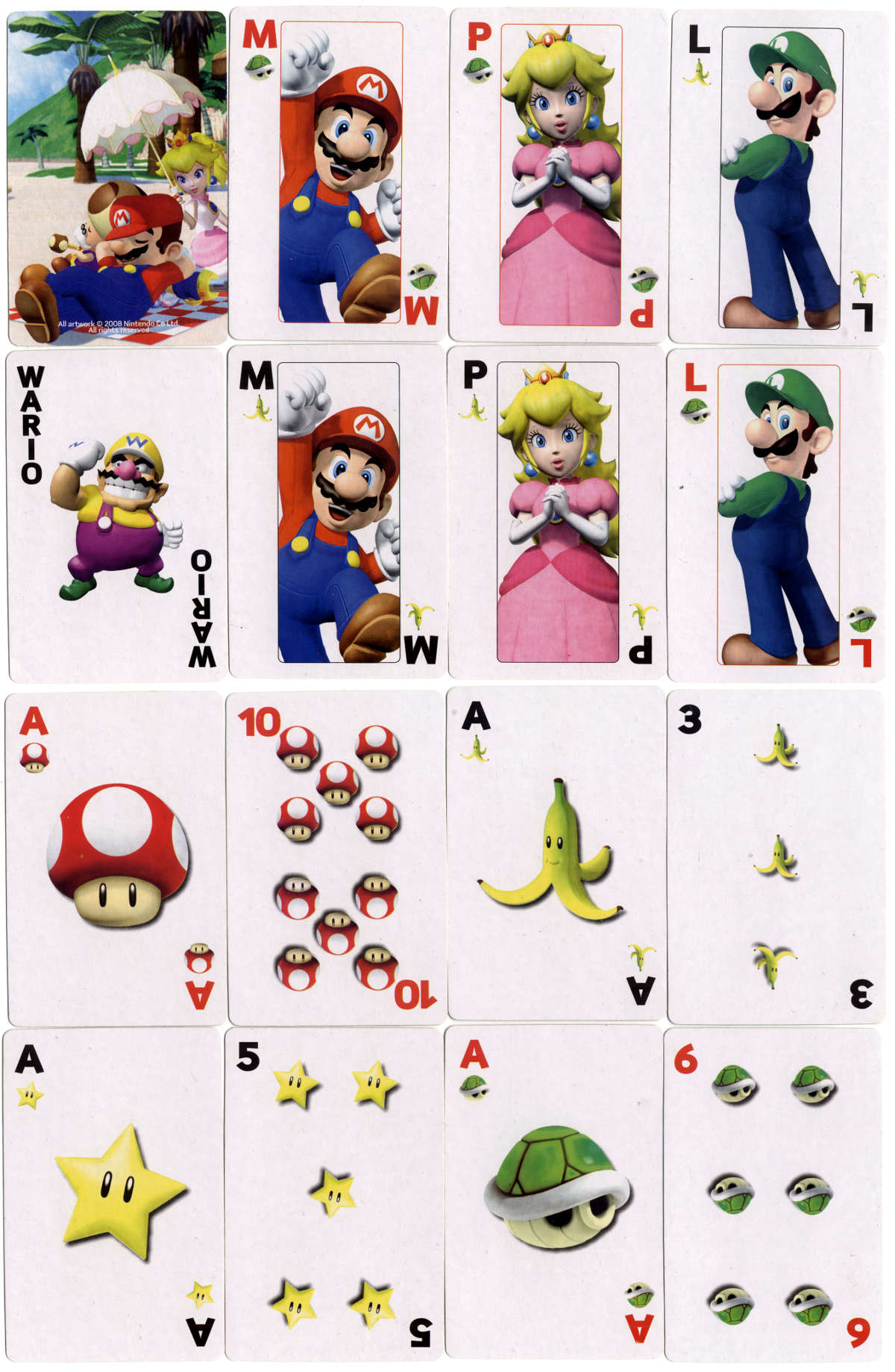 Nintendo's Mario-Wario Playing Cards. All artwork ©2008 Nintendo Co., Ltd