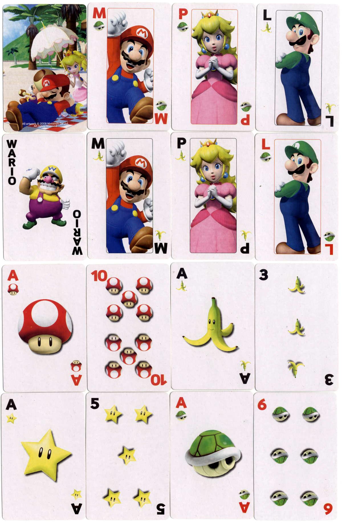 Nintendo's Mario-Wario Playing Cards. All artwork ©2008 Nintendo Co., Ltd