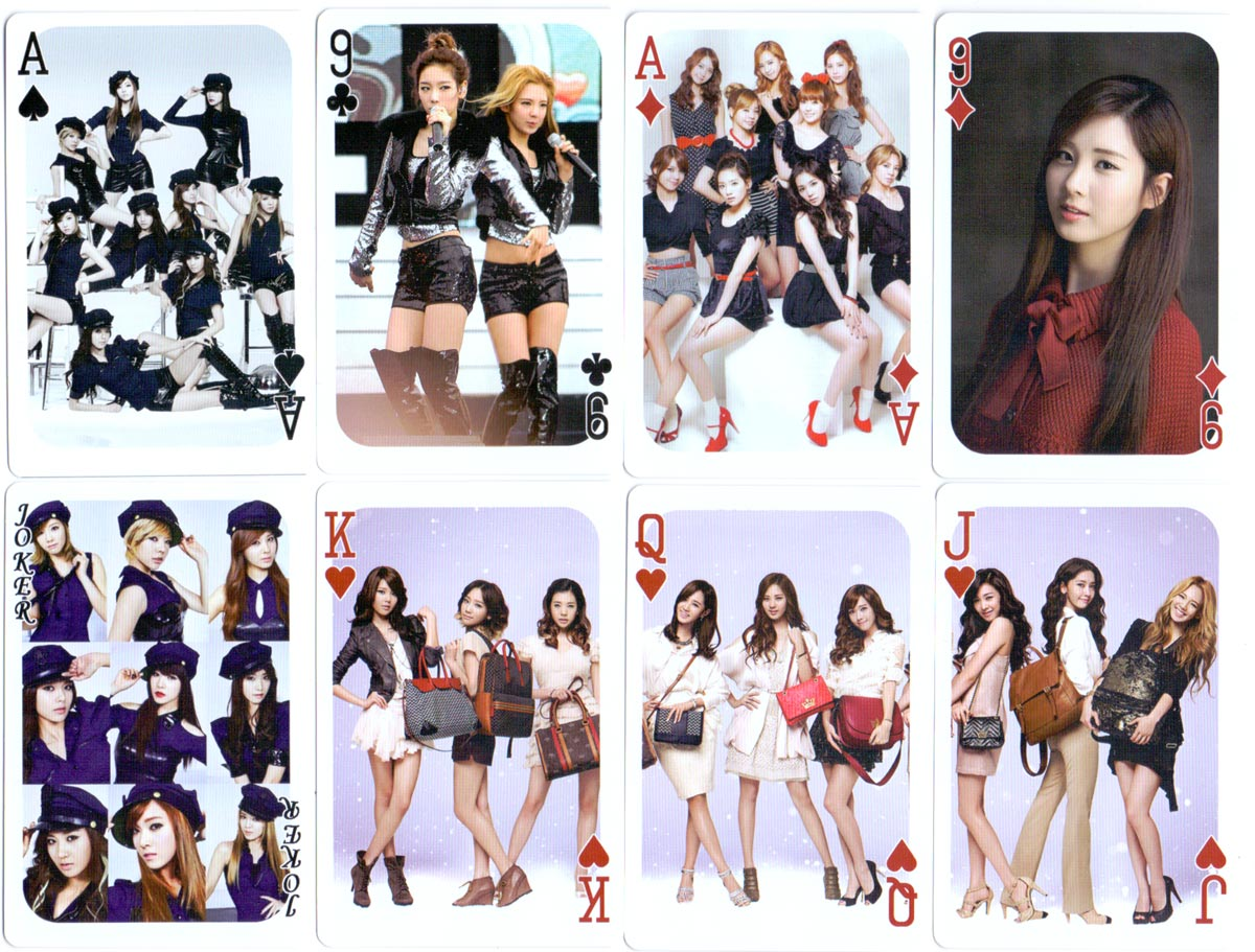 Girls' Generation playing cards designed by Rina Communication, Korea, 2011