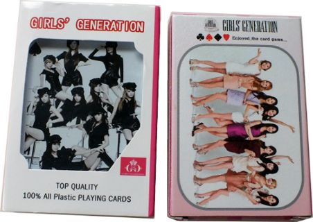 "two boxes of ""Girls' Generation"" playing cards made in South Korea"