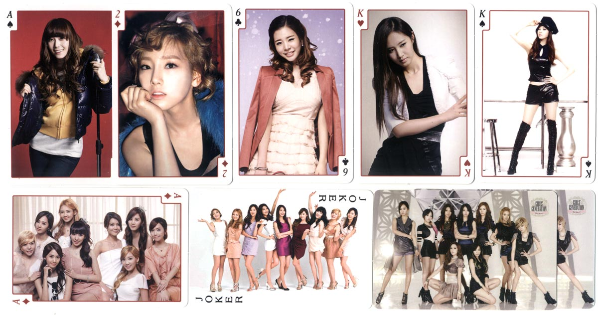 """Girls' Generation"" playing cards made in South Korea"