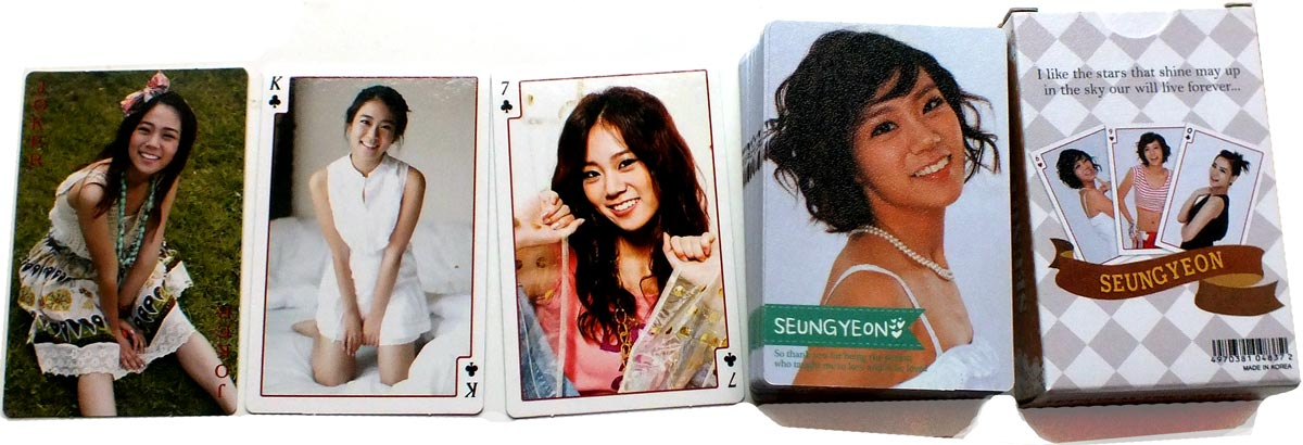 Seung-Yeon playing cards, made in South Korea